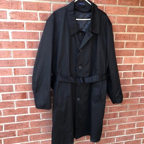 Men's lined dress overcoat/raincoat